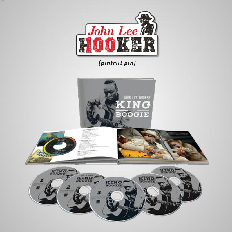 King of the Boogie 5 CD Book  + Hooker 100th Enamel Pin