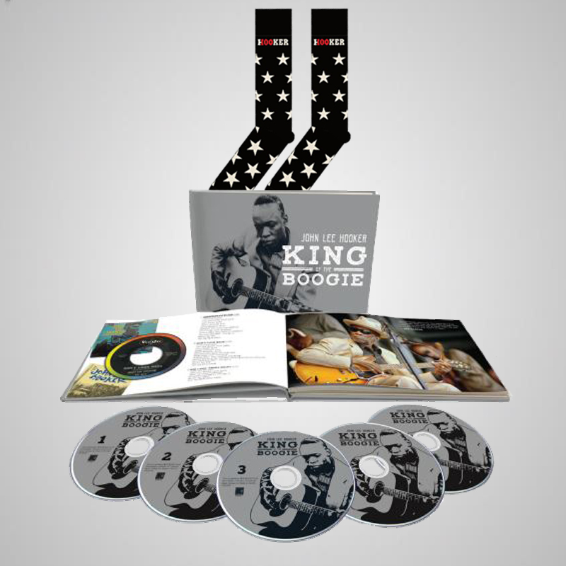 King of the Boogie 5 CD Book  + Hooker 100th Star Socks