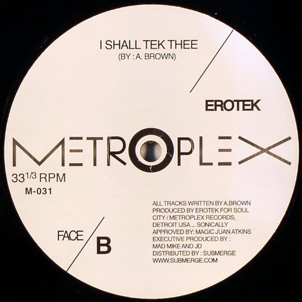 X-Ray / Erotek – Lock It Down / I Shall Tek Thee (Metroplex)