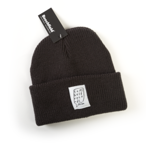Graphite Grey Knit Hat with Sewn Label