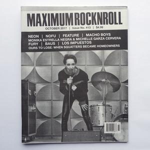 MAXIMUM ROCKNROLL #413 & back issues