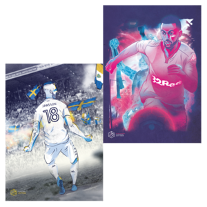Kemar Roofe & Pontus Jansson A3 Prints Offer