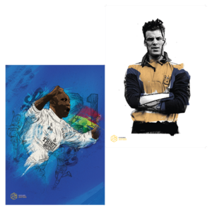 Tony Yeboah & John Charles A3 Prints Offer