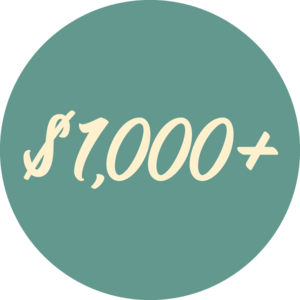 $1000 or more