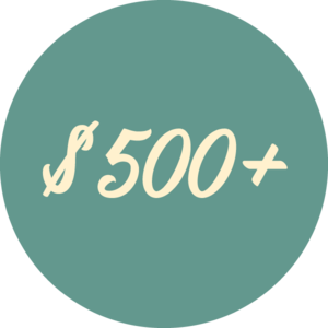 $500 or more