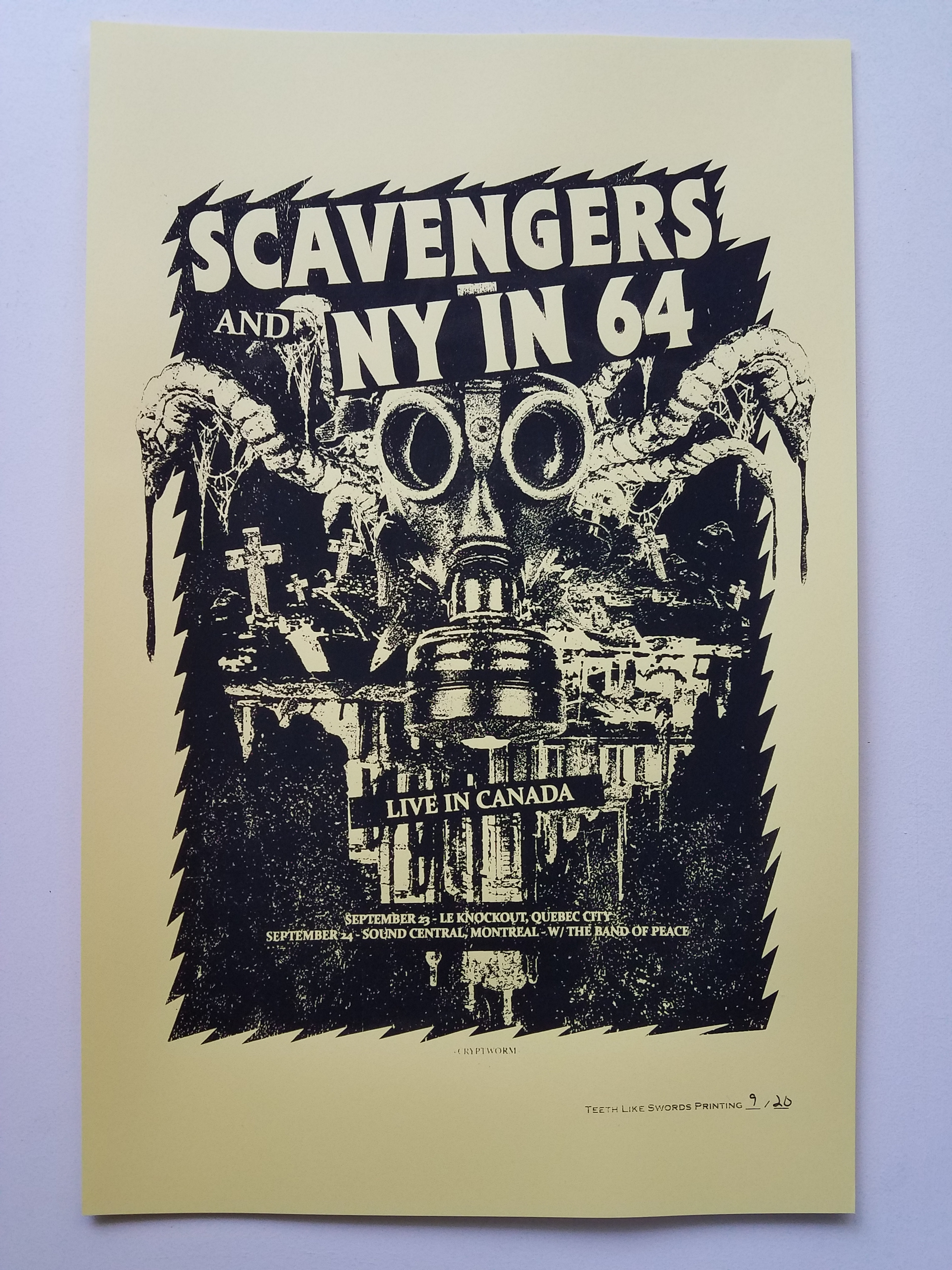 Scavengers & NY in 64 Canadian Show Poster