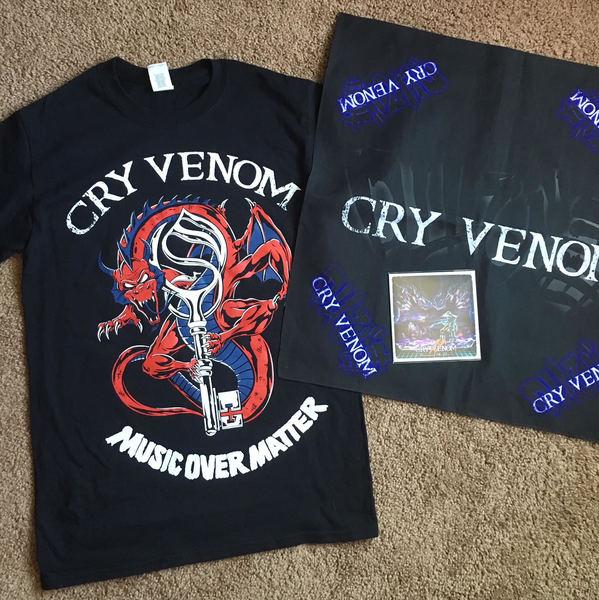 Limited Edition CD, Bandana, Dragon MOM Shirt Bundle
