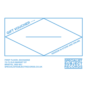 Specialist Subject Records - Gift Voucher
