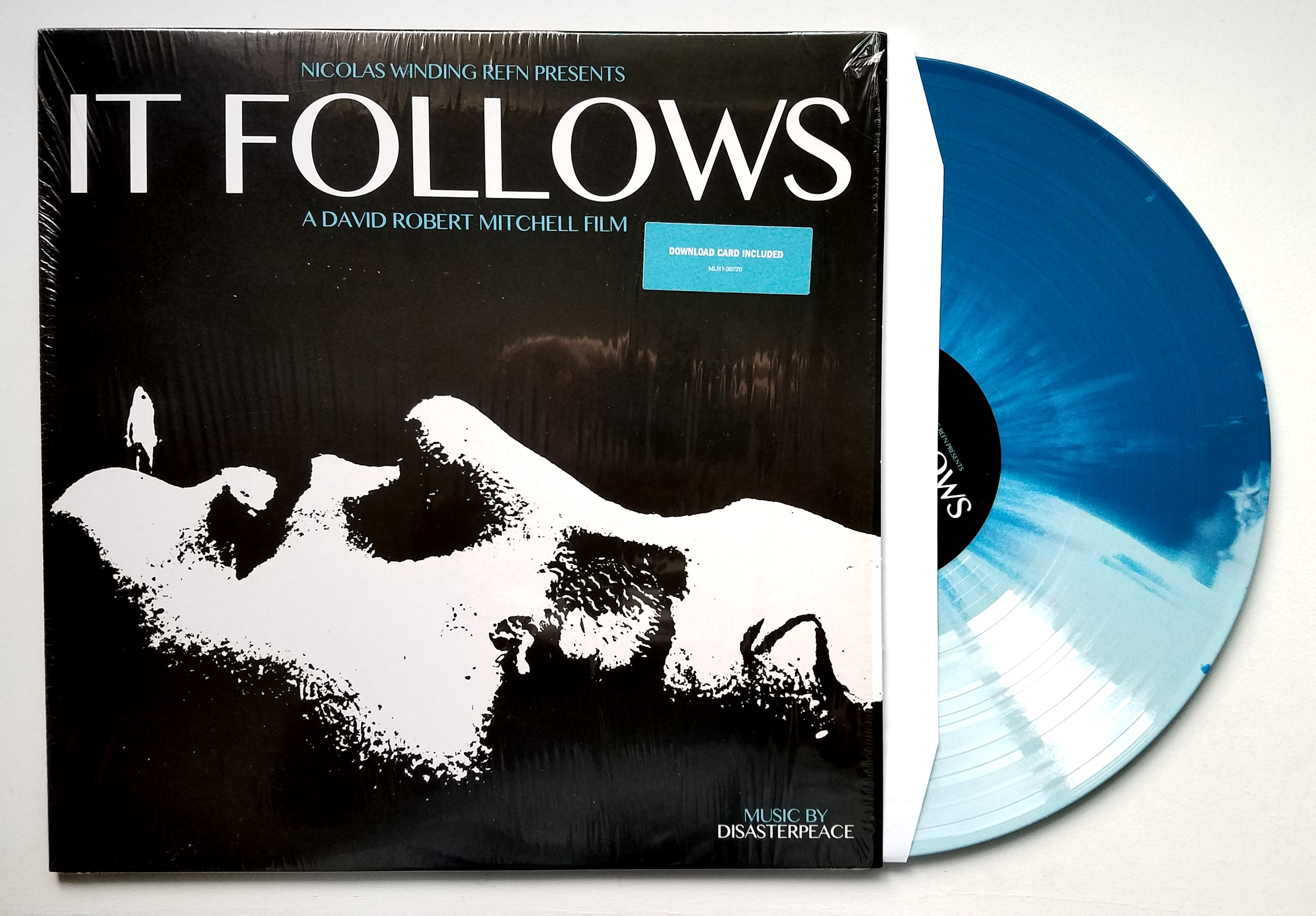 It Follows Original Soundtrack by Disasterpeace (180g blue/dark blue splatter, 2nd press)