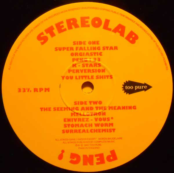 Stereolab ‎– Peng! (Too Pure)