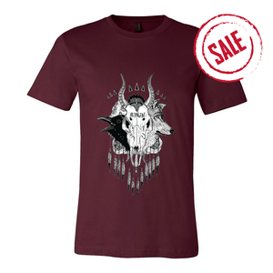 Skull - Womens Maroon Shirt