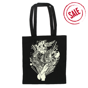 Hand - Black Tote Bag