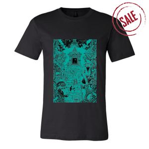 Monkey Temple - Unisex Black Shirt