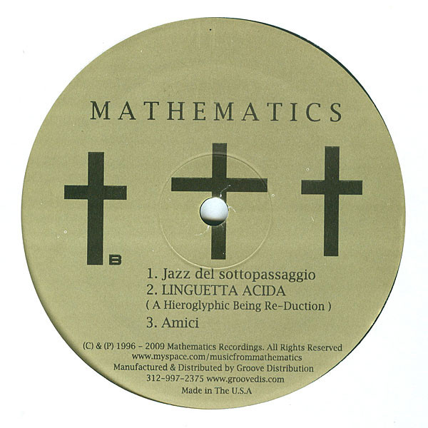 Marcello Napoletano ‎– A Prescription Of Love E.P. (Mathematics Recordings)