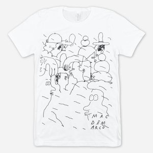PEOPLE DOODLE WHITE T-SHIRT