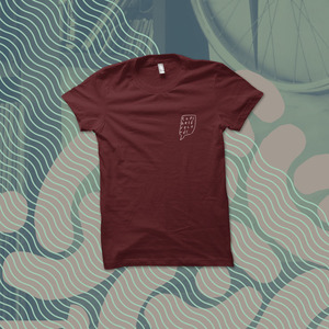 Topshelf Records - Hand Drawn Logo Pocket Print Shirt (Maroon)
