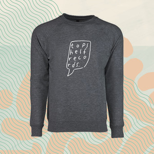Topshelf Records - Hand Drawn Logo Crewneck (Dark Heather Gray)
