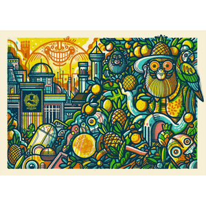 Northern Monk 'Northern Tropics' Monkey - Print