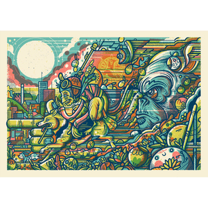 Northern Monk 'Northern Tropics' Stampede - Print