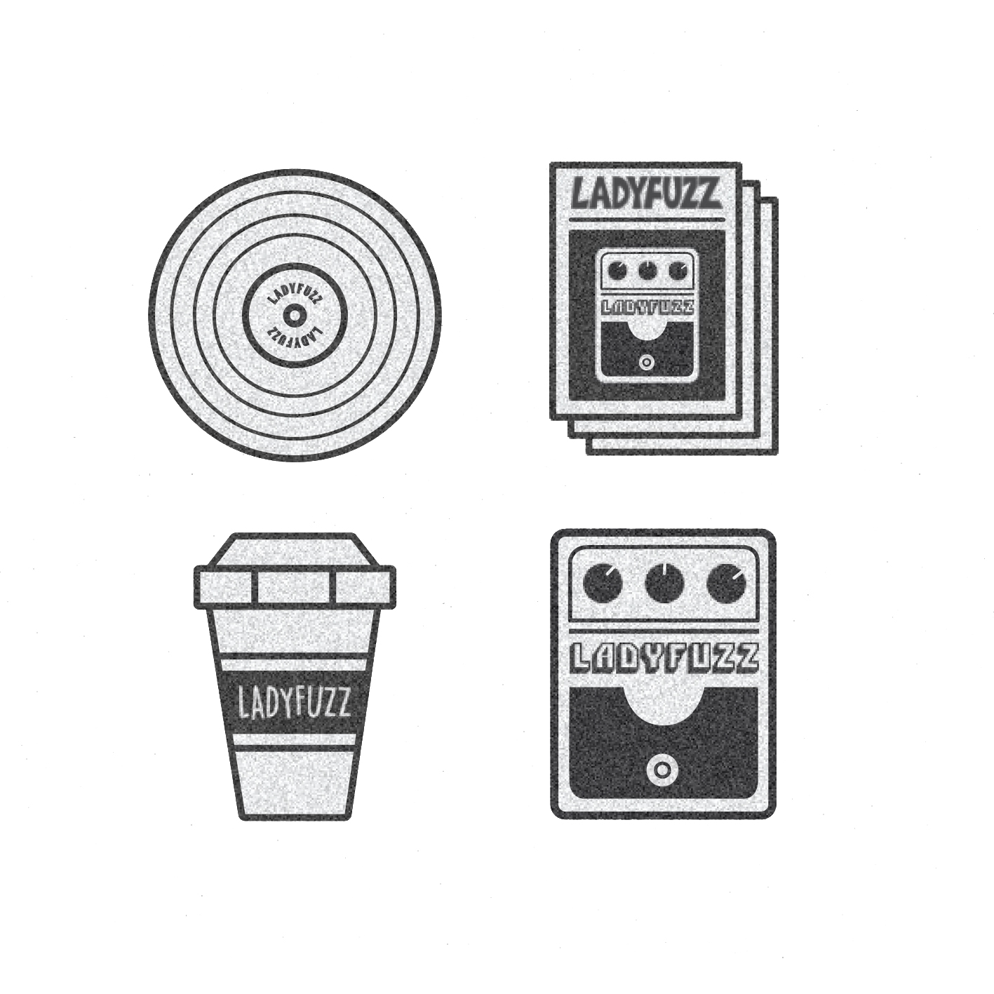 Ladyfuzz Sticker Set