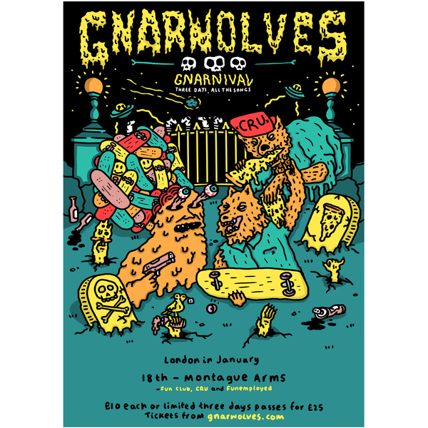Gnarnival tickets - 18th January 2018 @ Montague Arms