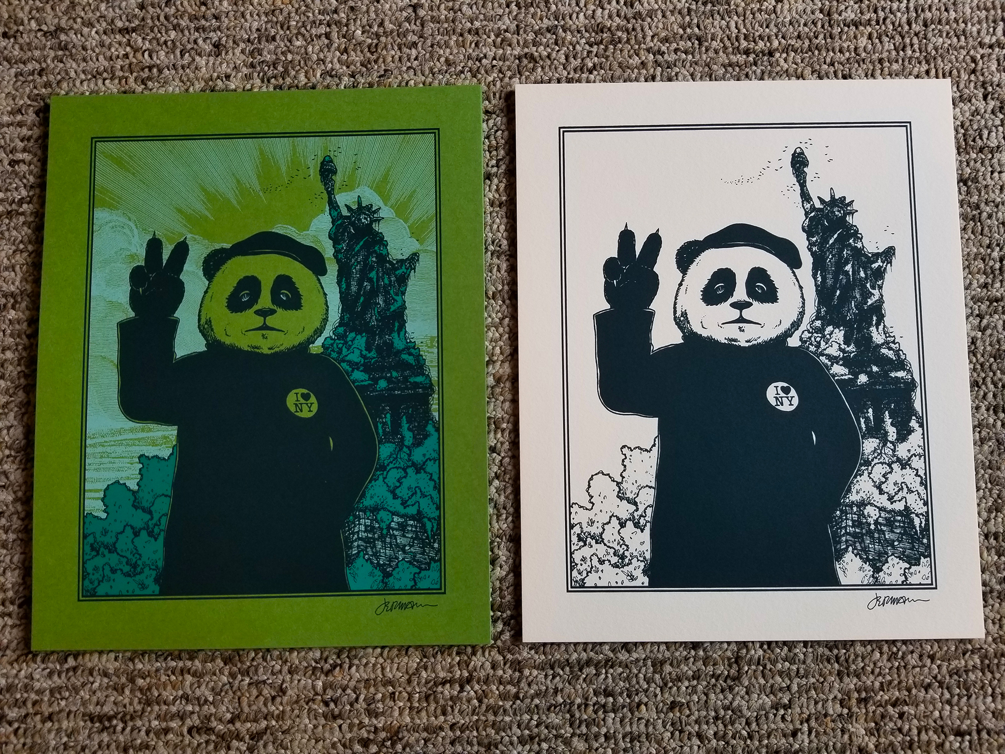 NEW 'Gimme Some Peace' Mini Art Print (VARIANTS) Eddie Vedder/Pearl Jam