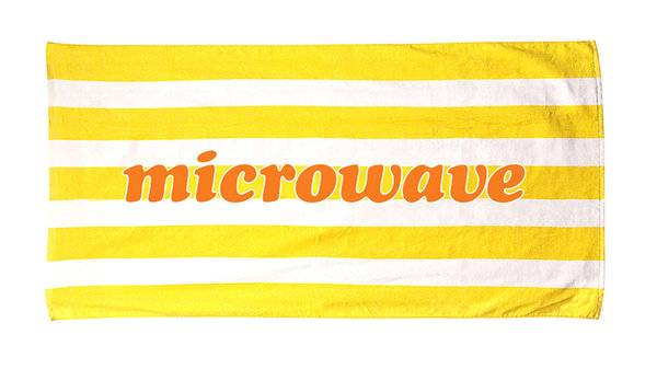 Microwave Logo Beach Towel