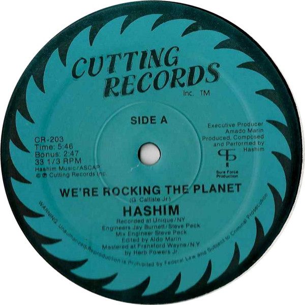Hashim ‎– We're Rocking The Planet (Cutting Records)