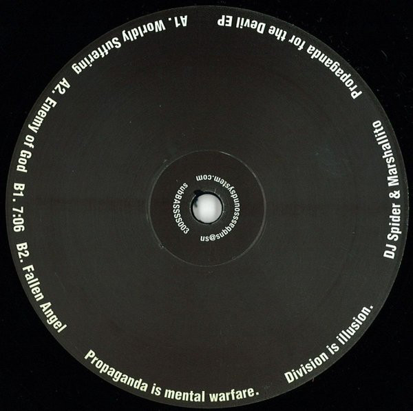 DJ Spider & Marshallito ‎– Propaganda For The Devil EP (subBASS Sound System)