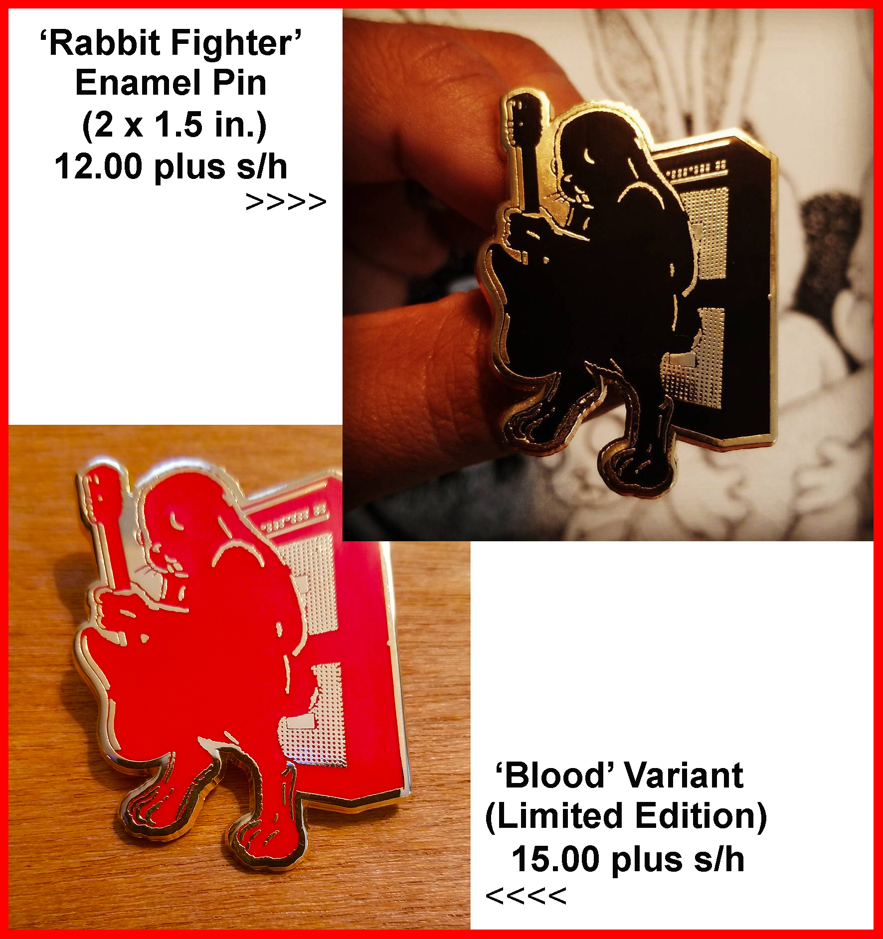 *NEW* The Art Of Jermaine Rogers ENAMEL PIN COLLECTION 'The Classics' (Various Pins)