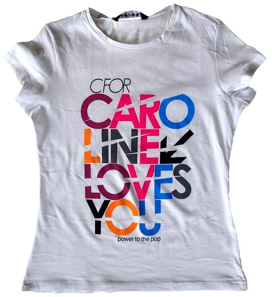 C FOR CAROLINE LOVES YOU GRIL TEE