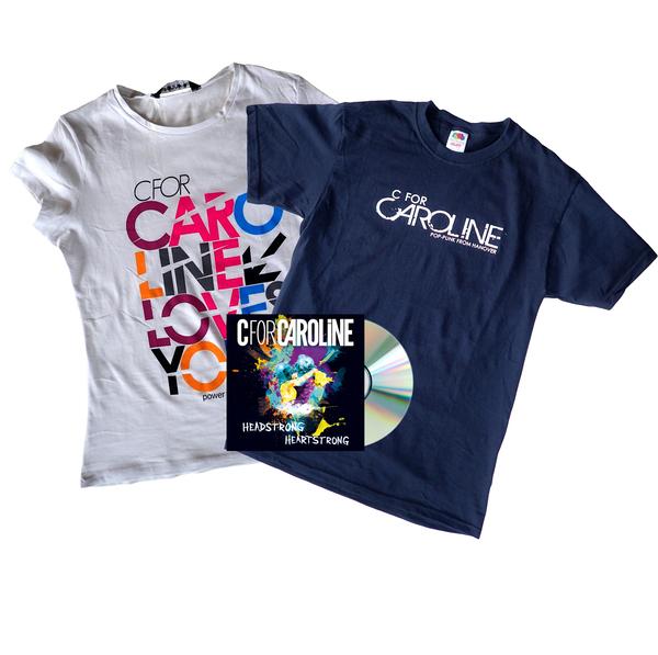 CfC Black And White Tee + CD Bundle