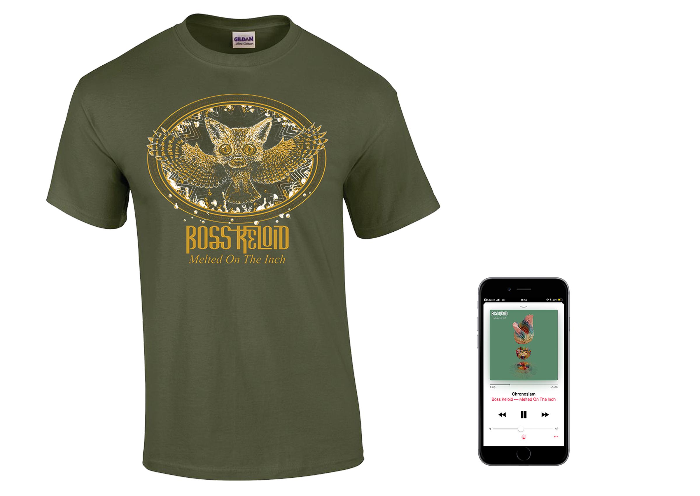 Boss Keloid 'Melted...' Foxowl shirt + digital download PREORDER