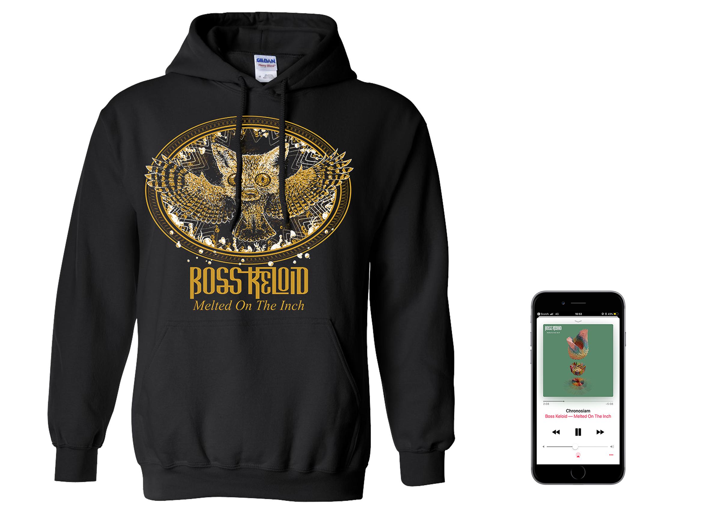 Boss Keloid 'Melted...' Foxowl hoodie + digital download PREORDER