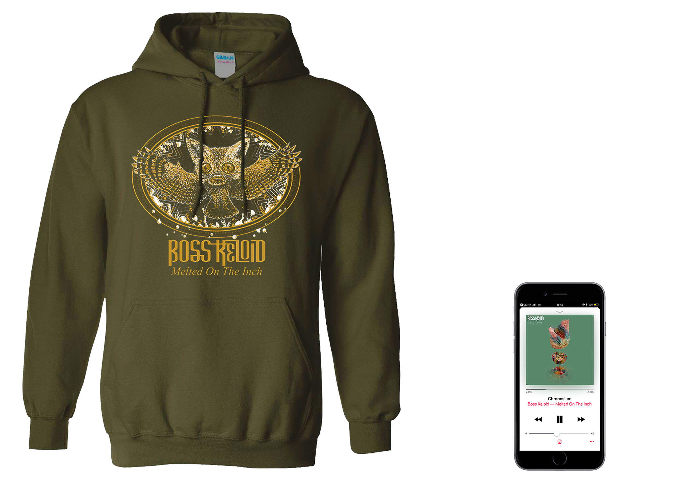 Boss Keloid 'Melted...' Foxowl hoodie + digital download