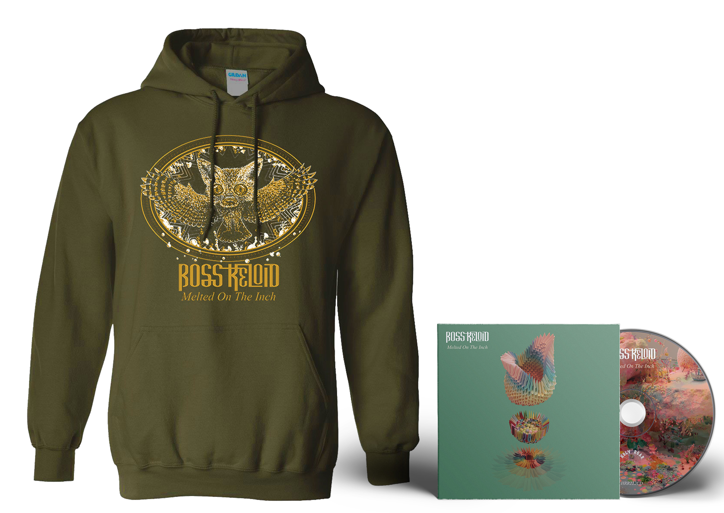 Boss Keloid 'Melted...' Foxowl hoodie + CD