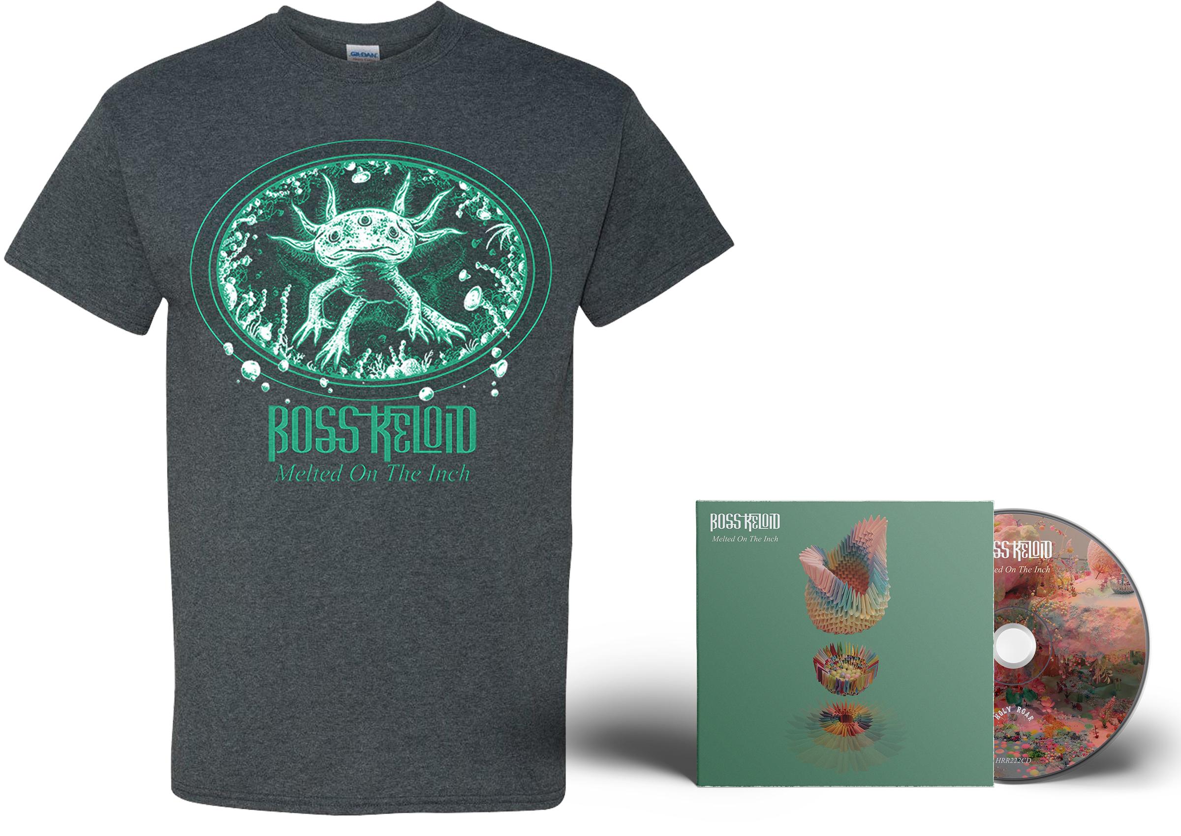 Boss Keloid 'Melted...' Axolotl shirt + CD PREORDER