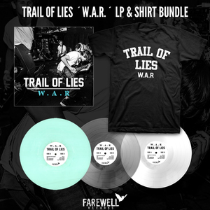 TRAIL OF LIES ´W.A.R.´ LP + Shirt Bundle [PRE-ORDER]