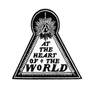 At the Heart of the World - Triangle Logo Embroidered Patch + Distortion Pin