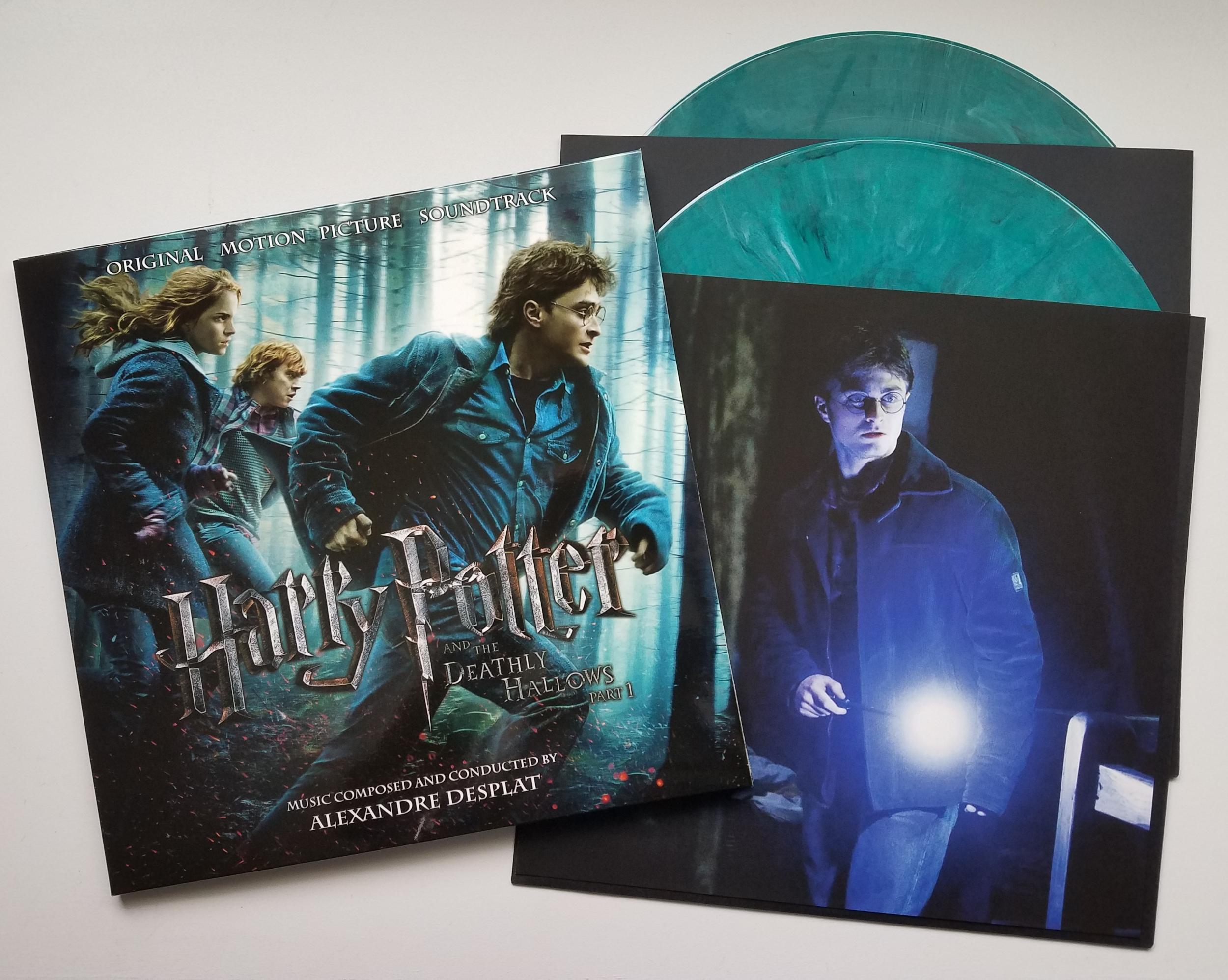 Harry Potter and the Deathly Hallows Pt. 1 Original Soundtrack by Alexandre Desplat 2xLP (Green Marbled vinyl)