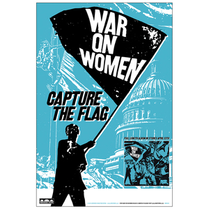 War On Women 'Capture The Flag' Poster