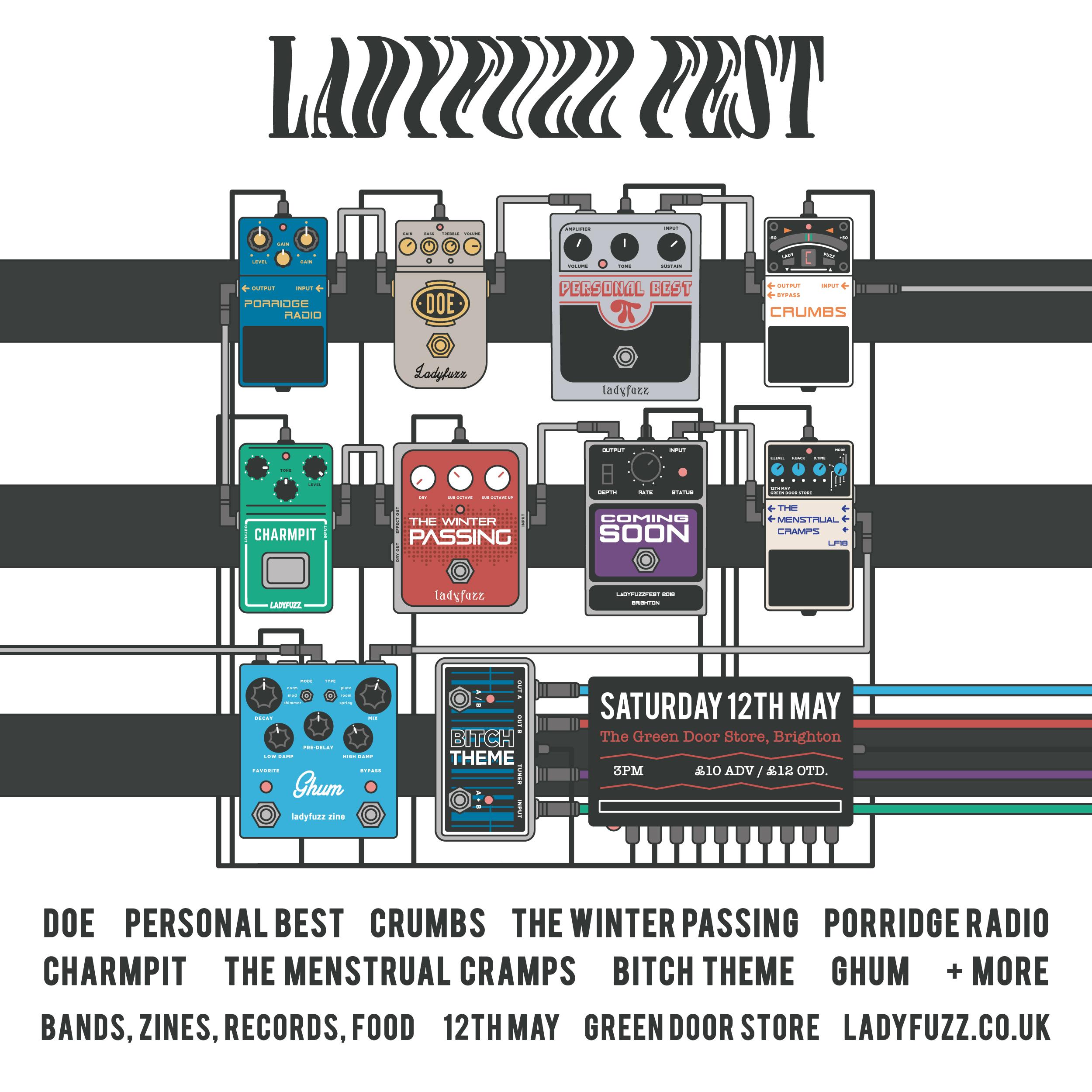 Ladyfuzz Fest Ticket - 12th May / Brighton