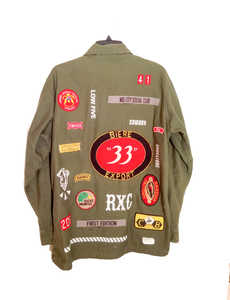 ARCHIVE- Rx Salvaged: Military Jacket w/ Patches (L)