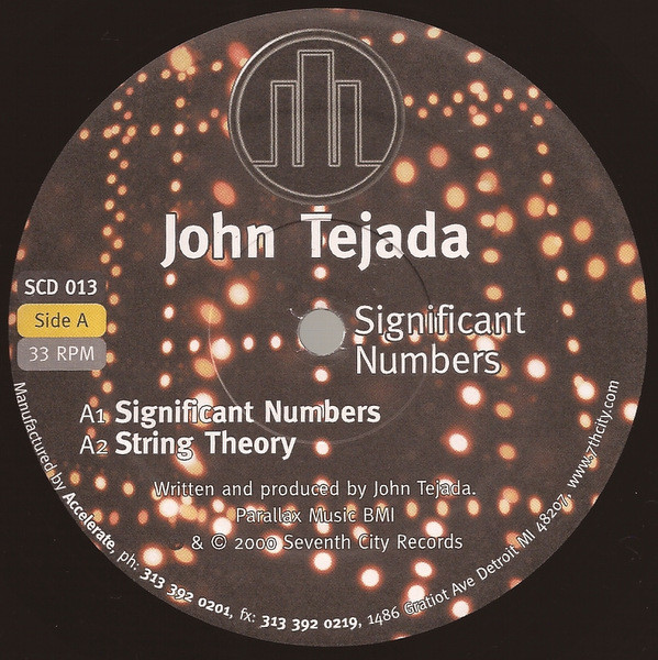 John Tejada ‎– Significant Numbers (7th City