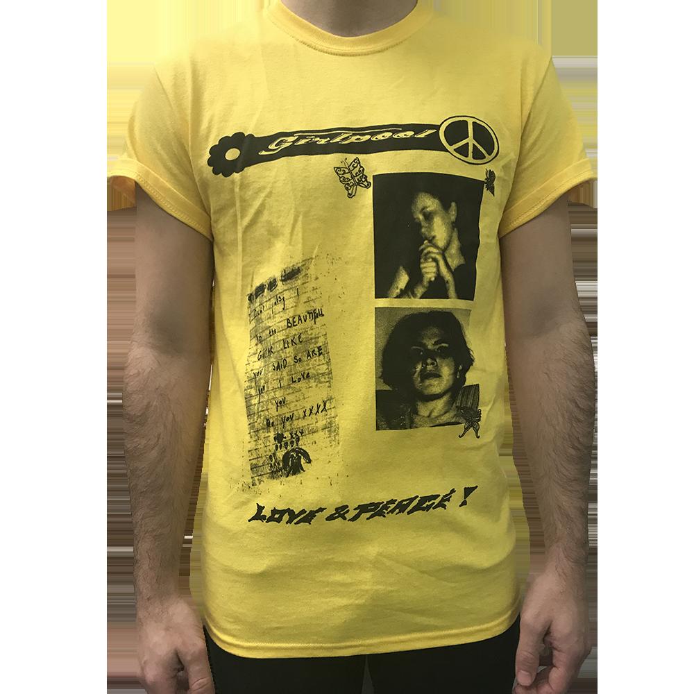 Peace and Love Tee (yellow)