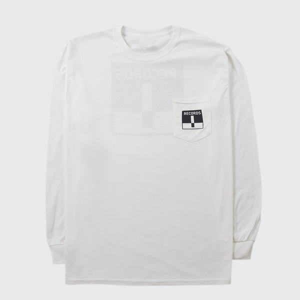 Long Sleeve Pocket Tee - White