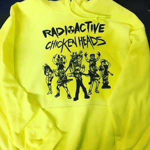 Radioactive Chicken Heads Illuminating Yellow Hoodies