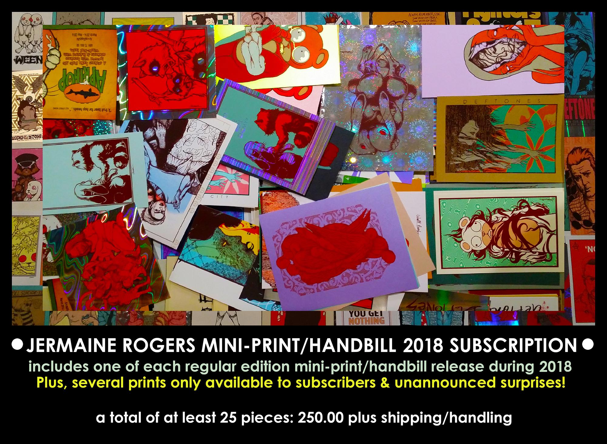 NEW - 2018 Jermaine Rogers Mini Print Subscription -