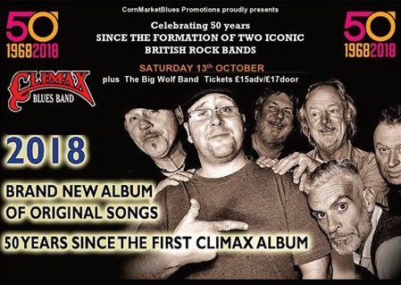Climax Blues Band + The Big Wolf Band (18+ age limit)