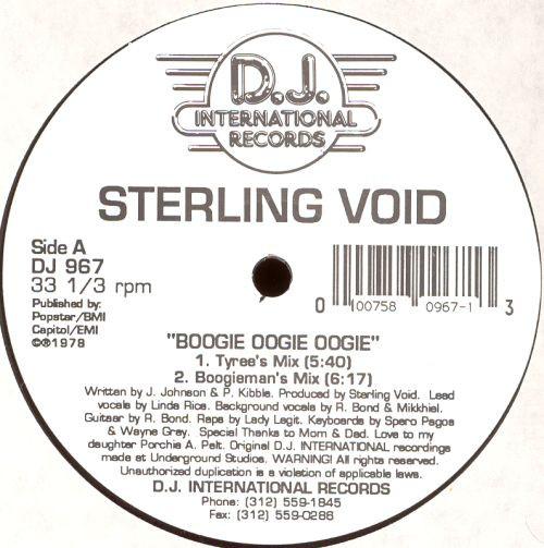 Sterling Void – Boogie Oogie Oogie (D.J. International Records)